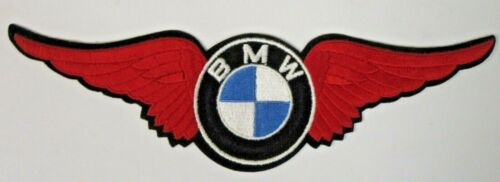 "giant BMW WINGS Motorcycle 12.25"" jacket back patch UNUSED"