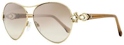 Roberto Cavalli Aviator Sunglasses RC1078 Minucciano 32G Gold/Transparent (Transparent Aviator Sunglasses)