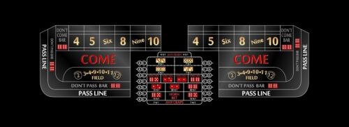 Craps table layout 12 foot black