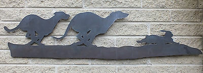 Greyhounds and Hare Silhouette, for Weather vanes or Features in Gates