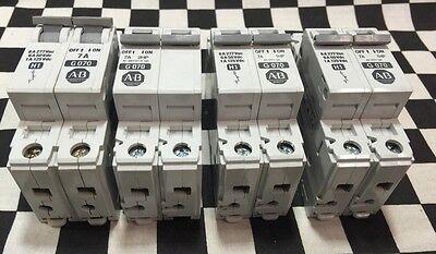 Lot Of 4 Allen Bradley 1492-cb1-g070 2 Pole 2a 1492-acb Shipsameday1625n