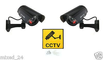 2x Dummy Überwachungskamera LED Fake Alarmanlage Attrappe CCTV Kamera Schwarz