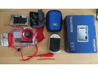 Olympus 1030SW compact camera and underwater housing