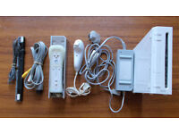Nintendo Wii Sport Console plus attachments and Zumba fitness cd