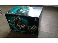 Logitech G25 (steering wheel, shifter & pedals)