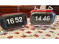 PAIR OF VERY RARE 1960'S FLIP CLOCKS BY COPAL - AMAZING LOOKING CONDITION - OPEN TO OFFERS
