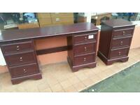 Brown bedroom unit and chest of draws