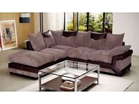 ***GET YOUR ORDER TODAY*** FABRIC CORNER SOFA & 3 AND 2 SEATER SOFA IN GREY & BROWN COLOR