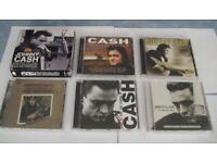 JOB LOT. 7 JOHNNY CASH CD ALBUMS