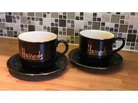 Harrods Large Cups & Saucers