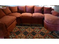 TETRAD 'ALICIA' CORNER GROUP SOFA WITH CHAISE. IN LOVELY CONDITION