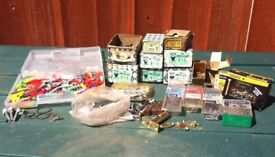 SELECTION OF BRASS & STEEL SCREWS PLUS OTHER BITS. - bargain £ 10