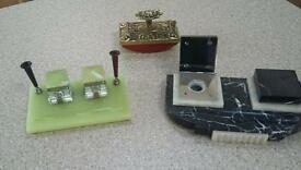 Art deco desk pieces
