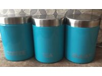 For sale Tea, Coffee & Suger containers