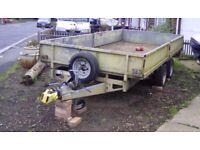 Ifor Williams 3500kg double axle, braked, dropside Plant Trailer
