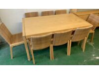 IKEA PELTO Solid Wood Extending Table & 8 Chairs FREE DELIVERY 5097