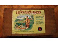 Lott's Tudor Blocks Set 6 Stone Bricks Wooden Box 1940's/50's