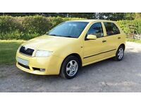 2001 SKODA FABIA ELEGANCE 1.9 TDI PD TURBO DIESEL 5 DOOR YELLOW SUPER ECONOMICAL £995