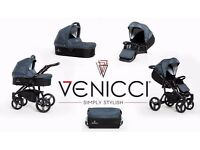 Immaculate condition venicci travel system inc isofix base lots of extras