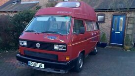 VW T25 Westfalia California 1.6TD high top with awning