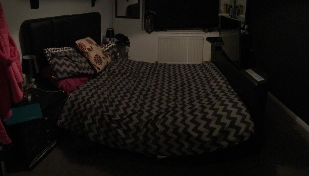 Double bed built in TV