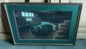 Car in barn photo
