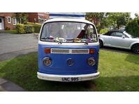 """""""BETTY"""" VW T2 BAY WINDOW CAMPER VAN POP TOP"""