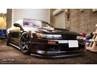 93 Nissan Silvia PS13 Red Purple - 320HP (Japanese Import / S13 / 180SX / Drift / JDM)