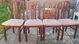 Bargain 4 dining table chairs