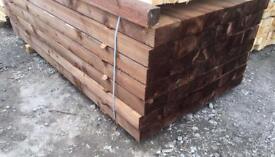 🚀Pressure Treated Wooden Sleepers // Brown ~ £16.50