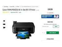 """Canon WiFi printer """"PIXMA MG 4250"""" Incl. XL Ink cartridges & Canon A4 Papers"""