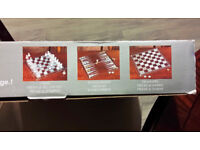 3 in 1 Crystal Chess Backgammon Draughts Boxed