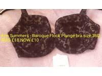 Baroque Flock Plunge Bra size 36D