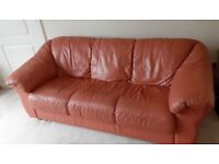 Leather Sofas 1 x 3 seater / 1 x 2 seater