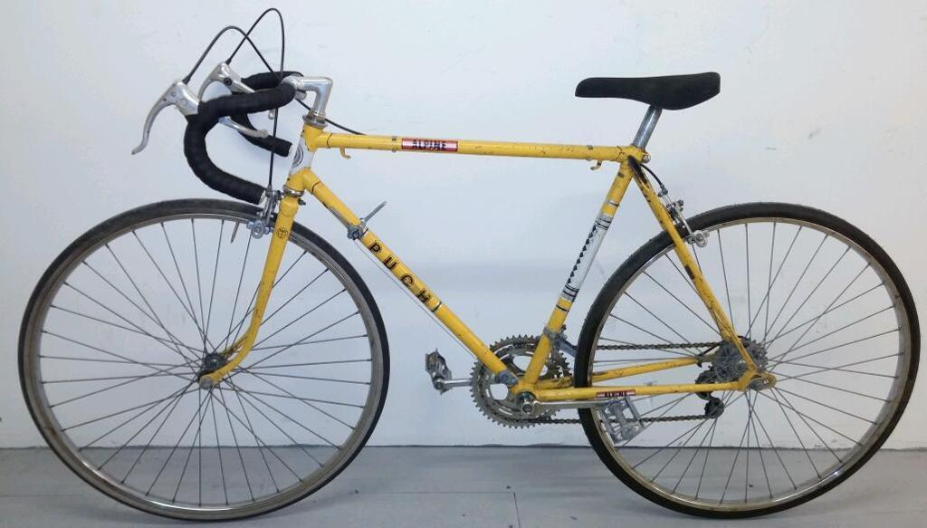 Fully serviced yellow Puch racing vintage large frame bicycle men\'s ...