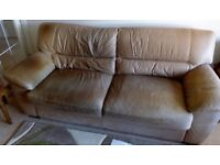 3 SEATER NUBUCK LEATHER SOFA FREE OF CHARGE