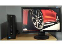 "HP Elitedesk Quad Core i5-4590 Complete PC Setup,8GB RAM,24"" Samsung Monitor,Win 10 Desktop Computer"