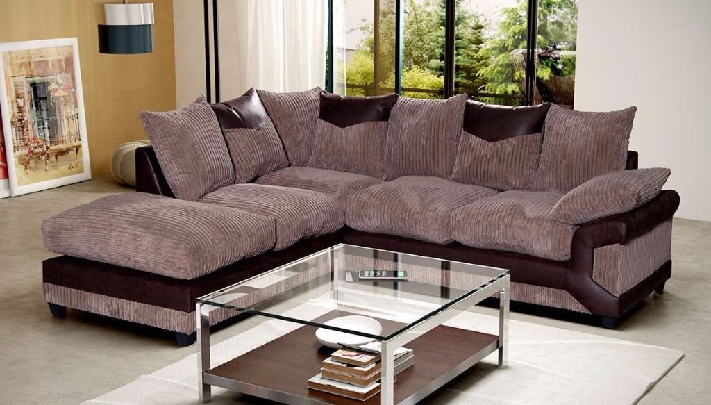 Jumbo Dianer CORD FABRIC CORNER SOFAS AND 3 AND 2 SEATTER SUITESin Bricket Wood, HertfordshireGumtree - CON.TACT INFOR IN THE FOLLOWING PIXTURES or 07903198072 BRAND NEW STYLISH DEENO SUITES AVAILABLE IN DOUBLE TONE COLOR BLACK GREY OR BROWN BEIGE RECOMMENDED RETAIL PRICE 599 OUR PIRCE 349 FOR 32 OR CORNER SUITE DIMENSIONS Corner to armrest 250cm...