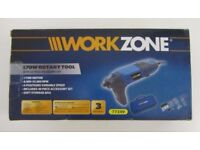 WorkZone 170W Rotary DIY Power Tool with 40 Piece Accessories Kit New and Boxed