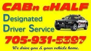 CABn aHALF DESIGNATED DRIVER SERVICE For The Peterborough Area Peterborough Peterborough Area image 1