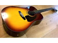 Excellent Condition Ibanez V300BS Electro Acoustic Guitar with Hardcase Made in Japan 1970/80s