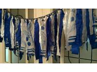 Something blue for your wedding day vtg rags garland bunting top table 5 foot