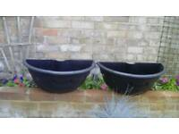 Garden wall baskets