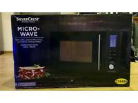 MICROWAVE WITH GRILL 20L SILVERCREST, BLACK, Brand new, boxed. 11 Power Settings