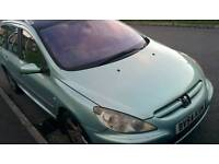 Peugeot sw 54plate 307 torbo broke 6 moths mot good runner £180