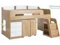 Argos cabin bed with desk