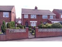 3 bedroom semi detached house with gardens and garage