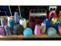 Huge job lot 17 cones of knitting machine wool £10.00 the lot