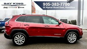 2016 Jeep Cherokee LIMITED, TECH GROUP, BLINDSPOT, HTD LEATHER,