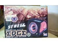 "EDGE AUDIO STREET SERIES - 750W 10"" ACTIVE BASS ENCLOSURE SUBWOOFWR"